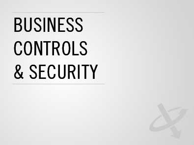 Business controls  & security